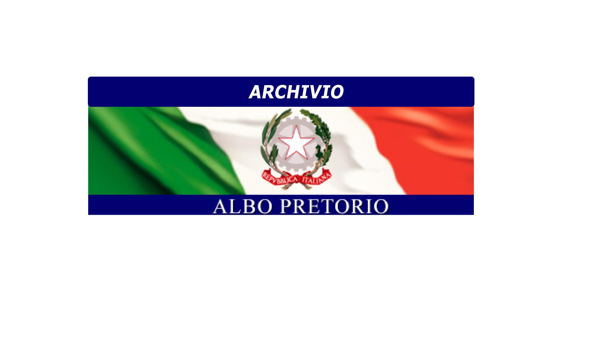 ARCHIVIO ALBO PRETORIO ONLINE